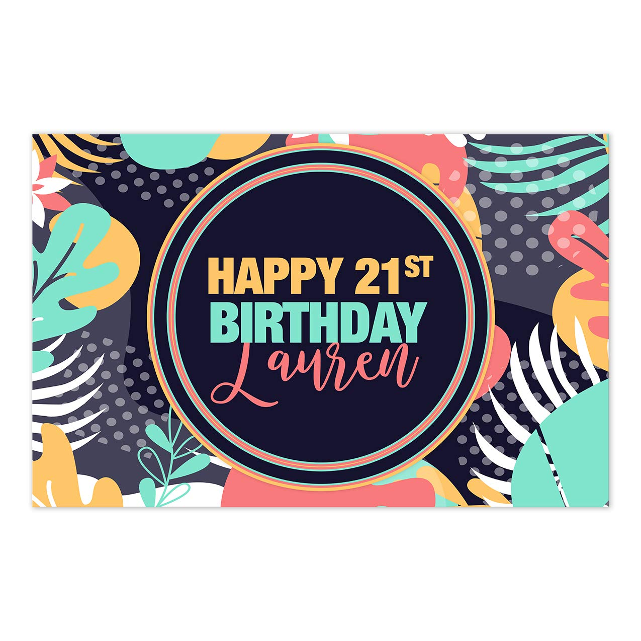 Geometric Tropical 100% quality New product!! warranty Birthday Personalized De Placemat Table Party