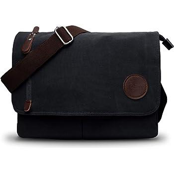 CHEREEKI Messenger Bag Work Travel Retro Canvas Casual Shoulder Bag Men and Women for Daily Use School
