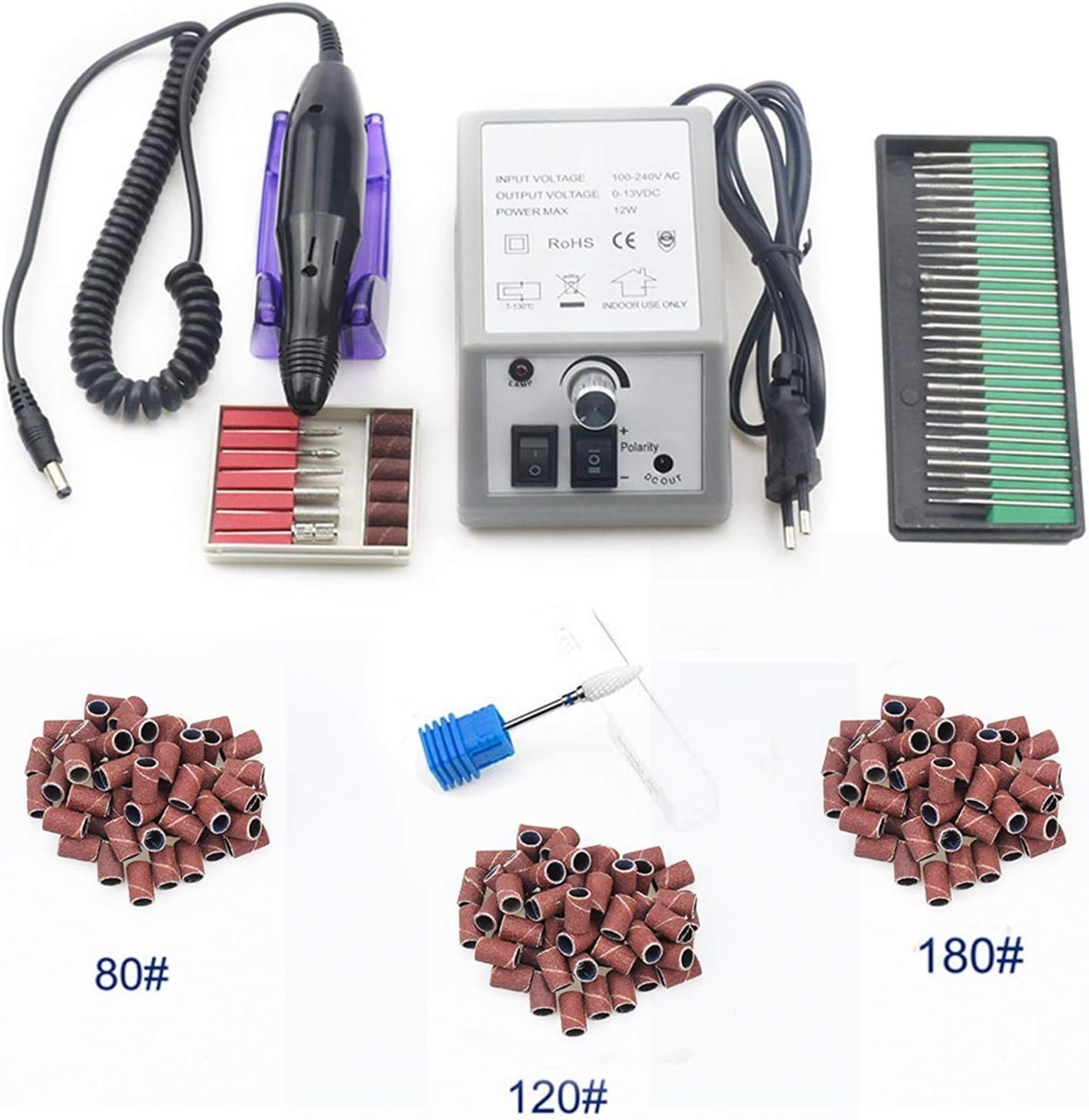ZRNG 35000/20000 RPM Máquina de Taladro de Esmalte de uñas Manicure Electronic Nail File Drill Manicure Pedicure Kit Equipo de Arte de uñas (Color : 20000 1)