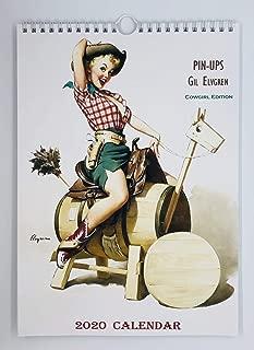 Gil Elvgren Cowgirls Edition Wall Calendar 2020 Pin Up Glam Sexy Girl Retro Vintage A4