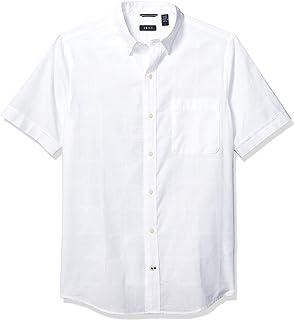 Men's Slim Fit Saltwater Short Sleeve Windowpane Button...