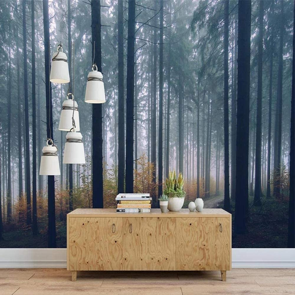 Interior Decoration Custom 3D Creative Max 64% OFF Opening large release sale Modern Fog Forest Mural P