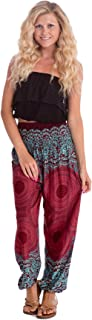 Harem Pants - S M L XL 2XL - Womens Plus Hippie Bohemian Yoga Elephant Beach Casual Pants