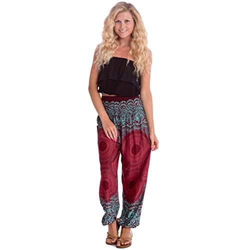 74d1a204b4 Happy Trunks Harem Pants - S M L XL 2XL - Womens Plus Hippie Bohemian Yoga  Elephant Pants
