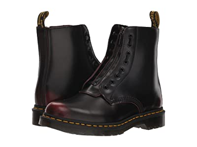 Dr. Martens 1460 Pascal Front Zip (Cherry Red Arcadia) Women