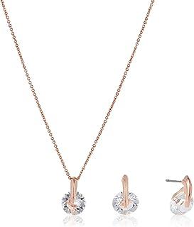 MESTIGE Women Crystal Rose Gold Siena Set with Swarovski Crystals