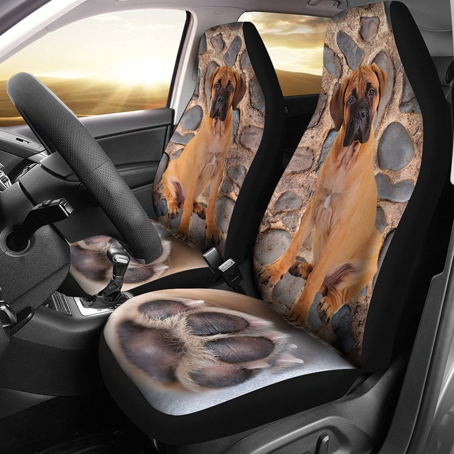 Deruj Bullmastiff Dog Paw Print Car Seat Covers