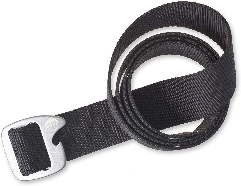 KAVU Beber Belt 1 1/2 Inch Nylon Adjustable Waist With Bottle Opener Buckle - Made in America