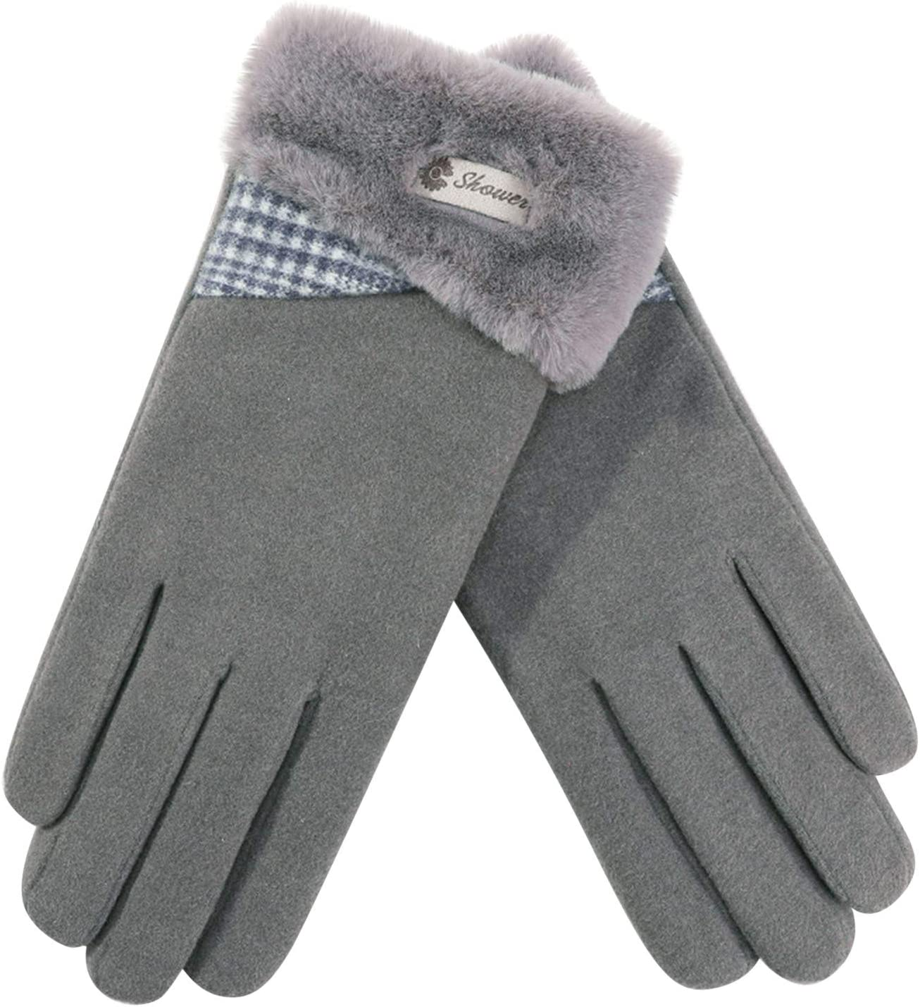 Winter Gloves -Cold Proof Thermal Work Glove Warm Fleece Insulated Cotton - Hands Warm Cold Weather for Women Driving, Cycling