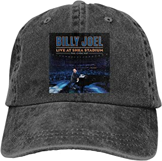 Jason A Ramirez Billy Joel Live at Shea Stadium Unisex Breathable Sun Hat,Fashion Baseball Cap,dad Hat,Adjustable