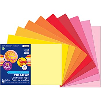 Pack of 120 6587 Pacon Tru-Ray Assorted Colors Smart Stack 12 W x 18 L