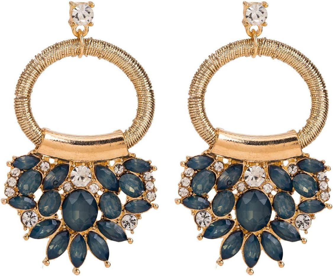 online shop Chentes Earrings San Antonio Mall European and Diamond Round Fa American