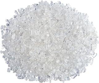 Top Plaza Natural Clear Quartz Tumbled Chips Crushed Stones Reiki Healing Quartz Crystals Irregular Shaped Gemstones 0.45lb
