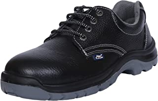 Allen Cooper AC-1419 Safety Shoe, ISI Marked for IS 15298 Part-2, Double Density DIP-PU Sole, Size 8 , Black