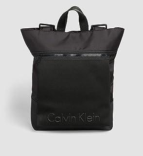 CALVIN KLEIN LOGO BACKPACK CONVERTIBLE TO TOTE BAG - BLACK