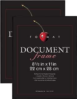 MCS 8.5x11 Inch Format Frame, Black (65555) (Pack of 2)