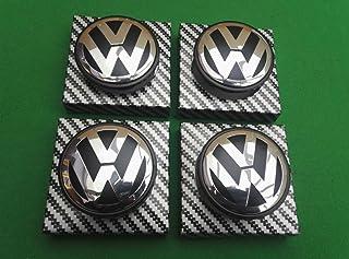 65mm Fondo Nero NJSdd Applicabile al mozzo Volkswagen Standard Nero Coprimozzo Centrale VW Standard coprimozzo Standard Card Pneumatici Standard 65mm