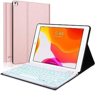 2020 ipad 8 キーボード カバー iPad 10.2 ケース キーボード ipad 7世代 ケース 7色バックライト SENGBIRCH ipad air 第三世代/pro 10.5通用 軽量 薄型 Bluetooth キーボードカバ...