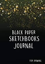 Svart papper skissböcker för dragning: Skissbok med svart papper för gelpenna: 6