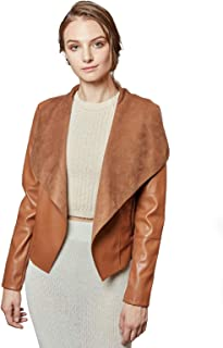 lauren ralph lauren faux leather tab quilted jacket