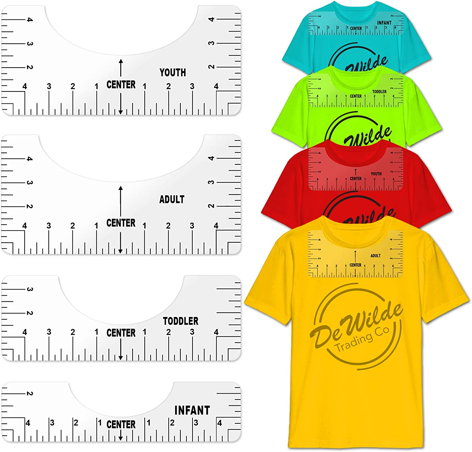 Tshirt Ruler Guide New mail order Set Ranking TOP14 - Clear Shirt Craft T Tool Aligning