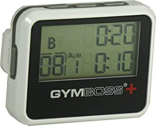 Gymboss Plus Interval Timer and Stopwatch - White/Black HARDCOAT
