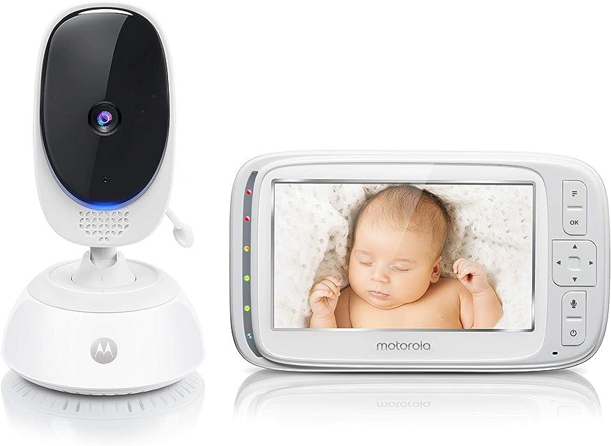 Motorola Baby Comfort C75 - Vigilabebés vídeo con pantalla LCD a color de 5.0