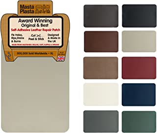 MastaPlasta Self-Adhesive Leather Repair Patch. New XL 28cmx20cm. Choose Colour. First-aid for Sofas, car Seats. Fix Holes, rips, Burns, Stains, Beige