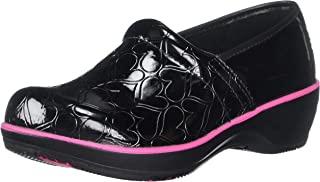 Smitten Women Faux Patent Leather Clog Medical Shoe-Heartthrob