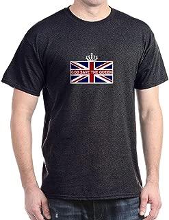 God Save The Queen Dark T Shirt 100% Cotton T-Shirt Charcoal