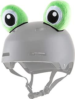 Parawild Frog Helmet Accessories w/Sticky Hook & Loop Fastener Adhesive (Helmet not Included), Fun Helmet Eyes/Ears/Cover for Snowboarding, Skiing, Biking, Cycling, Skating for Kids and Adults