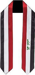 Iraq Flag Graduation Sash/Stole International Study Abroad Adult Unisex