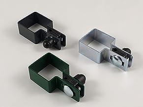 3 stuks eindklem vierkant in set 40x40mm 50x50mm 60x60mm 80x80mm 80x80mm / Ø6mm Draht grafietgrijs