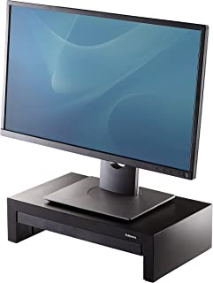 Fellowes 8038101 Designer Suites Monitor Riser, Black