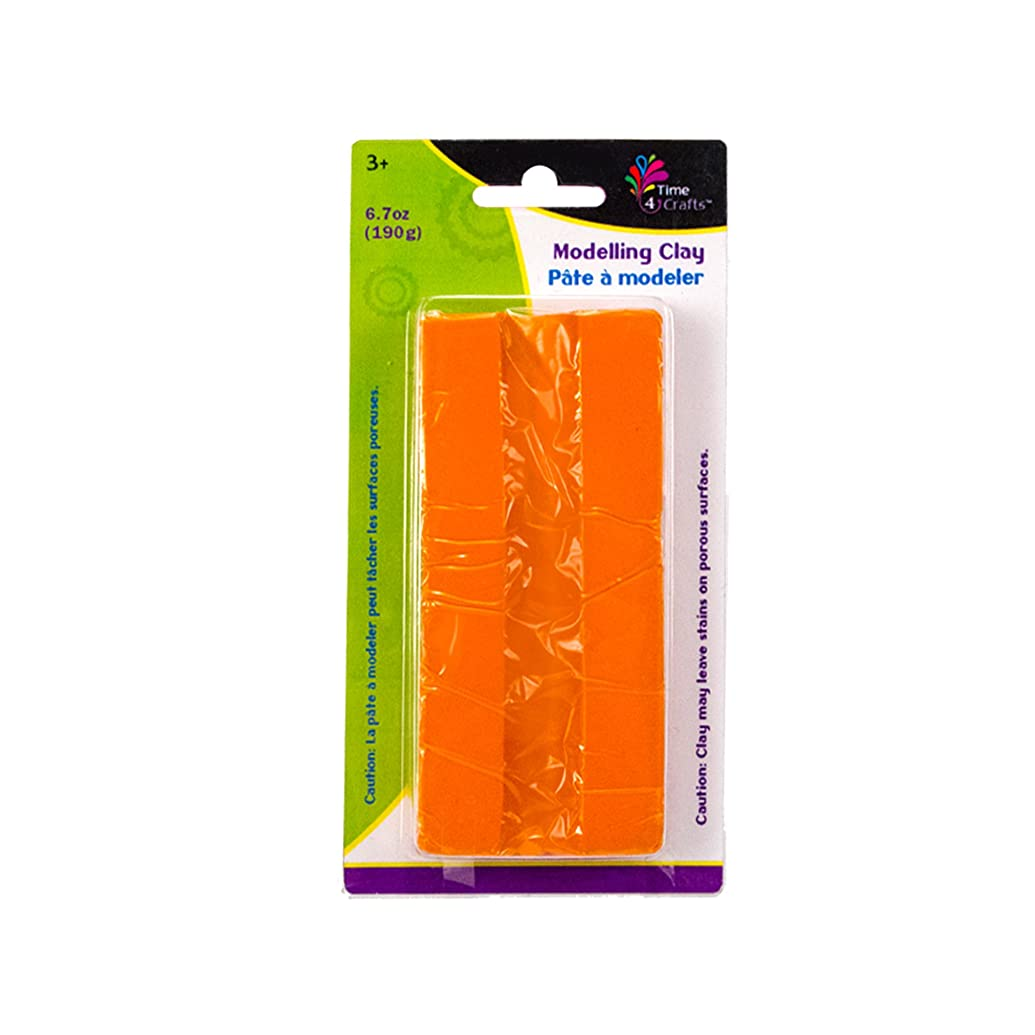 CTG Modelling Clay Pack of 12 190 grams Orange 12 Piece