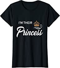 I'm Their Princess T-Shirt Funny Couple Family Girls T Shirt
