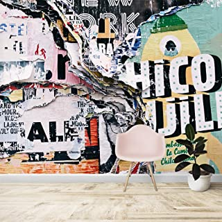wall26 Wall Mural Creative Graffiti Background Removable Self-Adhesive Large Wallpaper - 66x96 inches