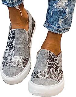 BIBOKAOKE Segelschuhe Damen Low Top Turnschuhe Mädchen Plateau Segeltuch Flache Schuhe Plattform Loafers Sneakers Sommersc...