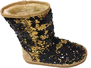 Classic Sparkles Double Shade Sequins Midnight Sequin Boots