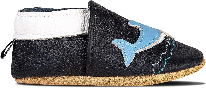 Primeros Zapatos para Ni/ños Zapatos de Cuero Suave para Beb/és Zapatillas de Estar por casa para Ni/ños