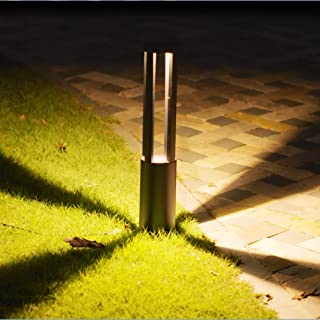 CNBRIGHTER LED Landscape Path Lights,10W CREE Chip,2 ft/ 60cm Height,Waterproof Aluminum Cylindrical Outdoor Gardern Accent Pathway and Spread Area Lighting,Warm White