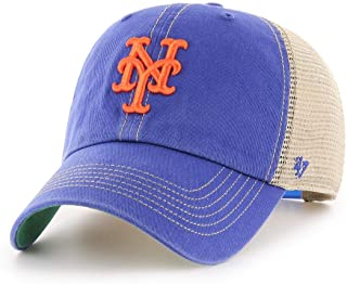 buy online 7e982 d3393  47 York Mets Trawler Clean Up Adjustable Hat Cap, Snapback Blue.