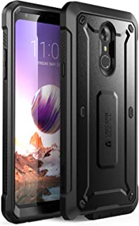 SupCase [UB Pro Series Case for LG Stylo 4, LG Stylo 4 Plus, with Built-in Screen Protector Full-Body Rugged Holster Case for LG Stylo 4 (2018 Release)- Retail Package (Black) (Renewed)