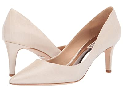 Badgley Mischka Lana (Ivory Indian Silk) High Heels
