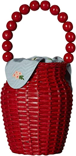 Wicker Bucket Tote