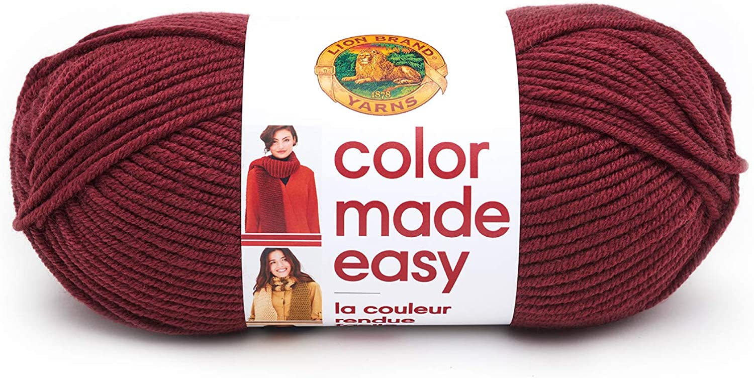 Lion Brand Yarn Company color Made Easy Yarn Pomegranate