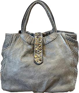 BZNA Bag Livia grau vintage Italy Designer Business Damen Handtasche Ledertasche Schultertasche Tasche Leder Shopper Neu