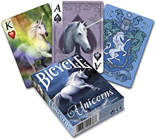 Fournier- Unicorns, by Anne Stokes Baraja de Cartas de Poker de Fantasía para Coleccionistas, Multicolor (Bicycle 1042740) , color/modelo surtido