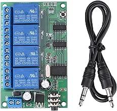 4 Channel Decoder Relay, AD22B04 12V DTMF Tone Signal Decoder Relay(10A/250VAC,10A/125VAC,10A /30VDC, 10A /28VDC,10A /12VDC)