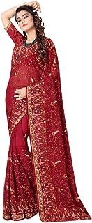 بلوزة نسائية هندي بتصميم أحمر للسيدات من تصميم بوليوود جروجيت ساري مع ستون Wprk 5789